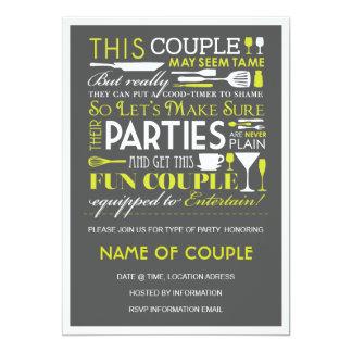 Partie de couples carton d'invitation  12,7 cm x 17,78 cm