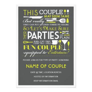 Partie de couples invitations personnalisées