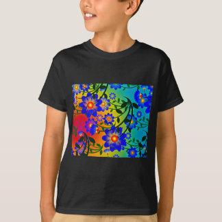 partie de douche heureuse de fleurs de sourire t-shirt