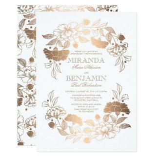 Partie de fiançailles élégante de guirlande carton d'invitation  12,7 cm x 17,78 cm