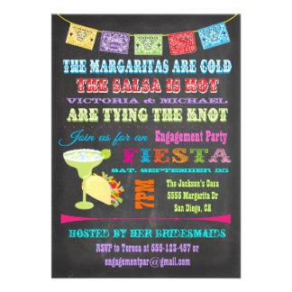 Partie de fiançailles mexicaine de fiesta de table bristols personnalisés