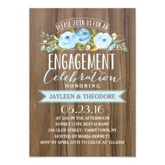 Partie de fiançailles rustique du fiançailles | carton d'invitation  12,7 cm x 17,78 cm