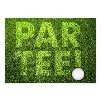 Partie de golf carton d'invitation  12,7 cm x 17,78 cm