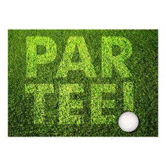 Partie de golf faire-part