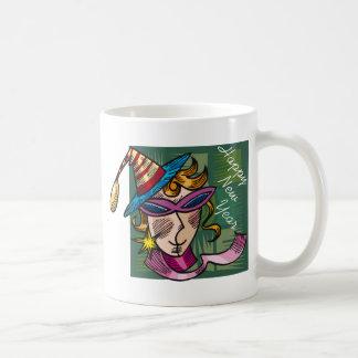 Partie de nouvelle année en cours tasse à café