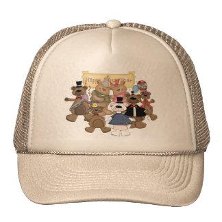 Partie de nouvelles années d'ours casquette de camionneur