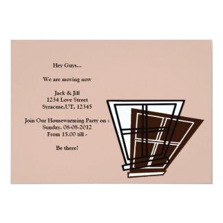 Partie de pendaison de crémaillère carton d'invitation  12,7 cm x 17,78 cm