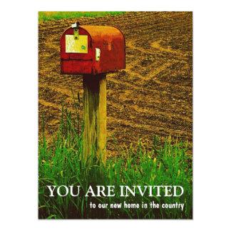 Partie de pendaison de crémaillère - nouvelle carton d'invitation  16,51 cm x 22,22 cm