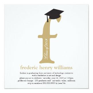 Partie de photo d'obtention du diplôme de diplômé carton d'invitation  13,33 cm