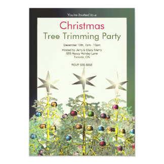 Partie de règlage d'arbre de trois arbres de Noël Carton D'invitation 12,7 Cm X 17,78 Cm