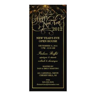 Partie de réveillon de la Saint Sylvestre - Carton D'invitation 10,16 Cm X 23,49 Cm