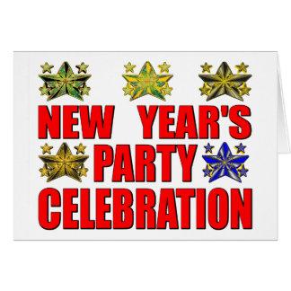 """Partie de s de nouvelle année """" carte de vœux"""