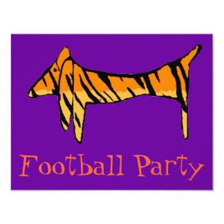 Partie de tigre de teckel invitation personnalisée
