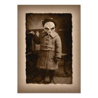 Partie étrangère vintage de Halloween d'enfant en Carton D'invitation 12,7 Cm X 17,78 Cm