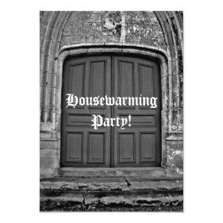 Partie gothique de pendaison de crémaillère carton d'invitation  12,7 cm x 17,78 cm