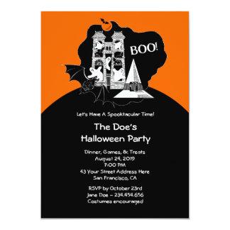 Partie hantée heureuse de costume de Halloween Carton D'invitation 12,7 Cm X 17,78 Cm