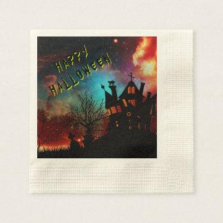 Partie hantée par Halloween heureuse de Chambre Serviettes En Papier