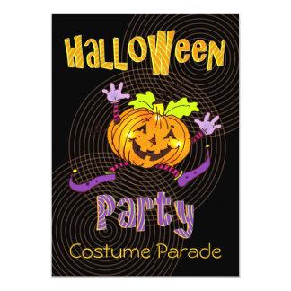 Partie heureuse de costume de Halloween de Carton D'invitation 12,7 Cm X 17,78 Cm