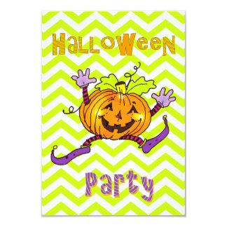 Partie heureuse de Halloween de citrouille Carton D'invitation 8,89 Cm X 12,70 Cm