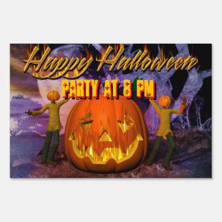 Partie heureuse de Halloween signes de 1 yard