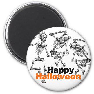 Partie heureuse Deco de Halloween d'os de squelett Magnet Rond 8 Cm