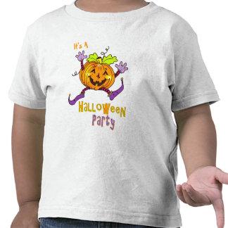 Partie heureuse Halloween de citrouille T-shirts