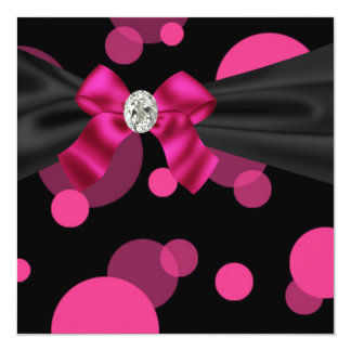 Partie Invitatio de noir de rose de partie de Carton D'invitation 13,33 Cm