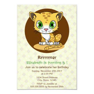 Partie mignonne d'anniversaire de enfant de bande carton d'invitation 8,89 cm x 12,70 cm