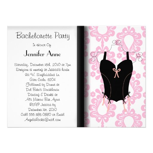 Partie mignonne de Bachelorette Invitations