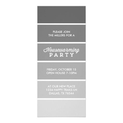 Partie moderne de pendaison de crémaillère de cart invitations personnalisées