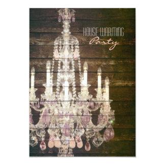 partie pourpre vintage de pendaison de crémaillère carton d'invitation  12,7 cm x 17,78 cm