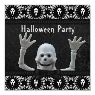 Partie squelettique heureuse de Halloween de Carton D'invitation 13,33 Cm