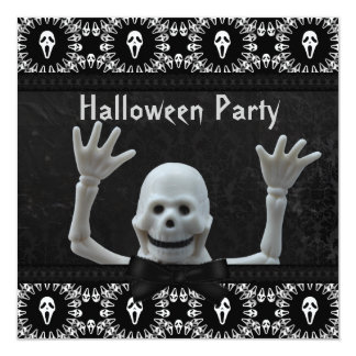 Partie squelettique heureuse de Halloween de Invitations