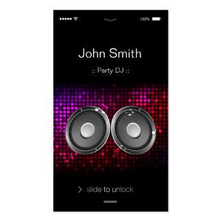 partie unique et élégante DJ de style d'IOS Carte De Visite Standard
