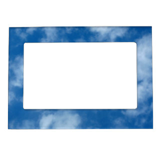 Partly Cloudy Blue Sky Magnetic Frame