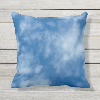 Partly Cloudy Blue Sky Square Throw Pillow
