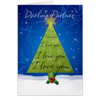 Partner Christmas Card With Holiday Tree