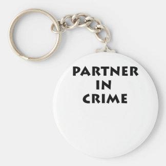 Partner in crime! basic round button keychain