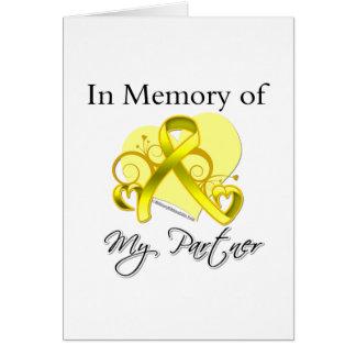 Partner - In Memory of Military Tribute Card