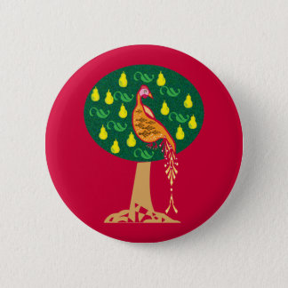 Partridge in a pear tree Christmas carol 2 Inch Round Button