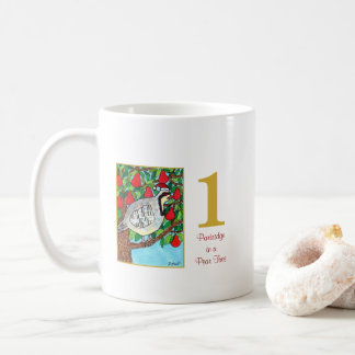 Partridge in a Pear Tree Cute Bird & Typography Coffee Mug