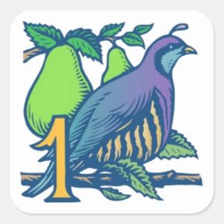 Partridge in a Pear Tree Square Sticker