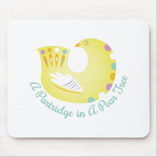 Partridge In Pear Tree Mouse Pad