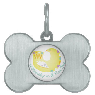 Partridge In Pear Tree Pet Name Tag
