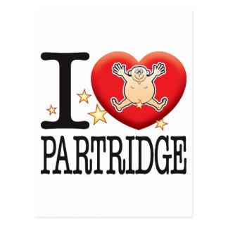 Partridge Love Man Postcard