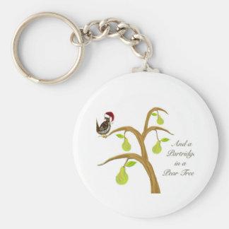 Partridge + Pear Tree Keychain