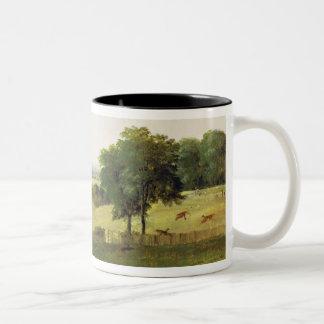 Partridge Shooting (oil on millboard) Two-Tone Coffee Mug
