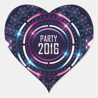 Party 2016 Album Cover Merch Heart Sticker