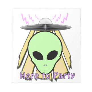 Party Ailen Notepad