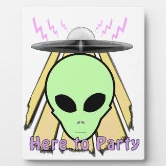 Party Ailen Plaque